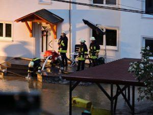 Einsatz beim Hochwasser 2016